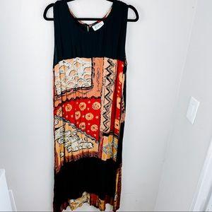 Island Collection Sleeveless Printed Maxi Dress